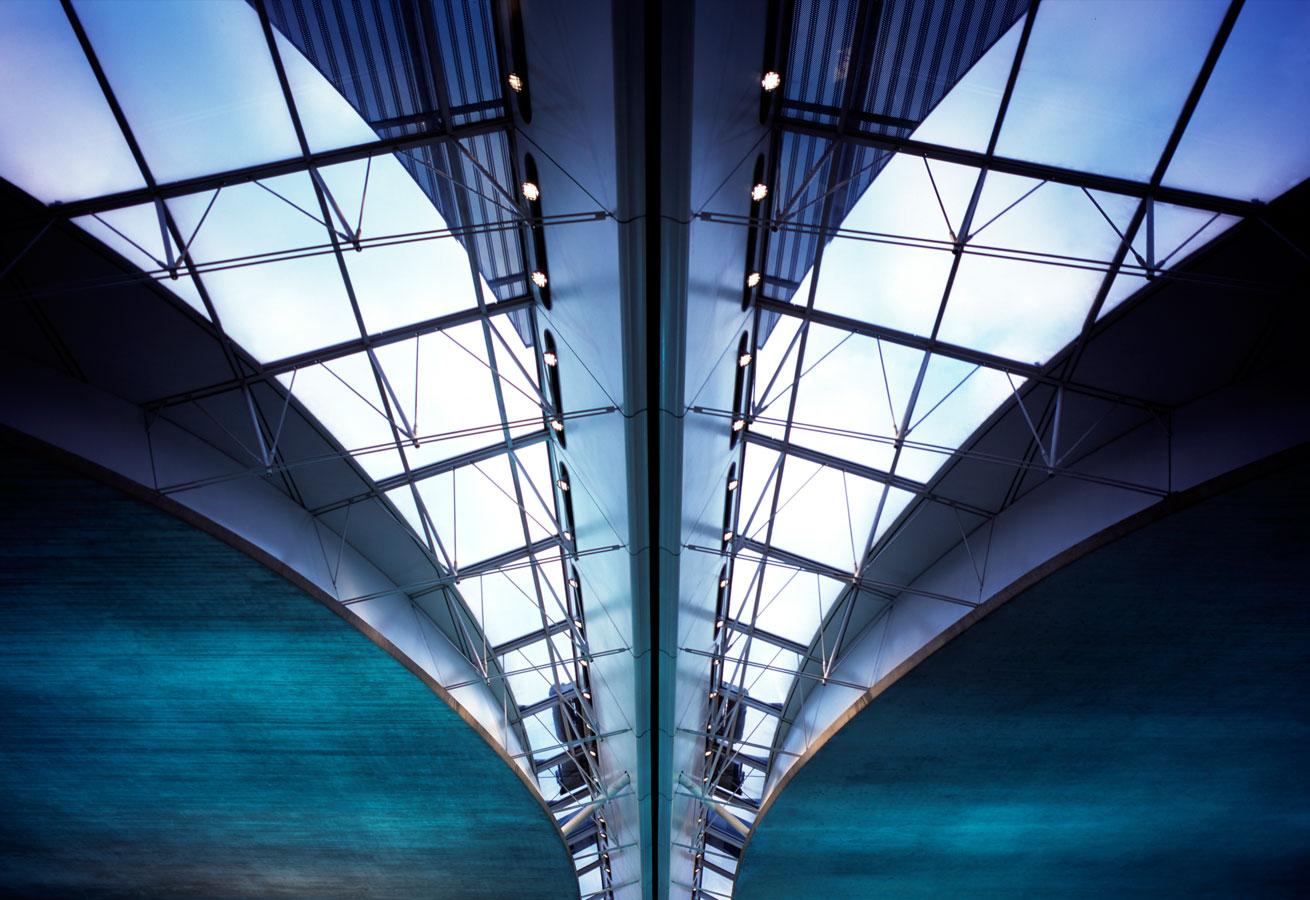 Flughafenarchitektur Charles de Gaulles