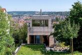 Architekturfotografie: Haus am Weinberg mit Holzfassade, Stuttgart