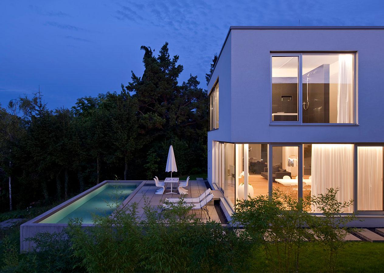 Architekturfotografie: Wohnhaus mit Pool, Leonberg