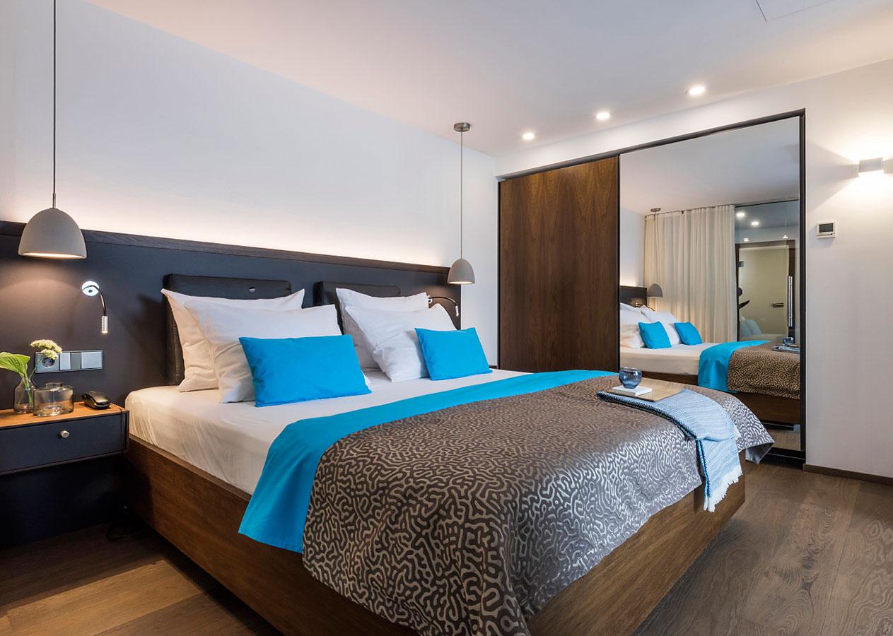 Interiorfotografie: Doppelzimmer im Seehotel Friedrichshafen