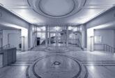 Eingangshalle mit Marmorboden